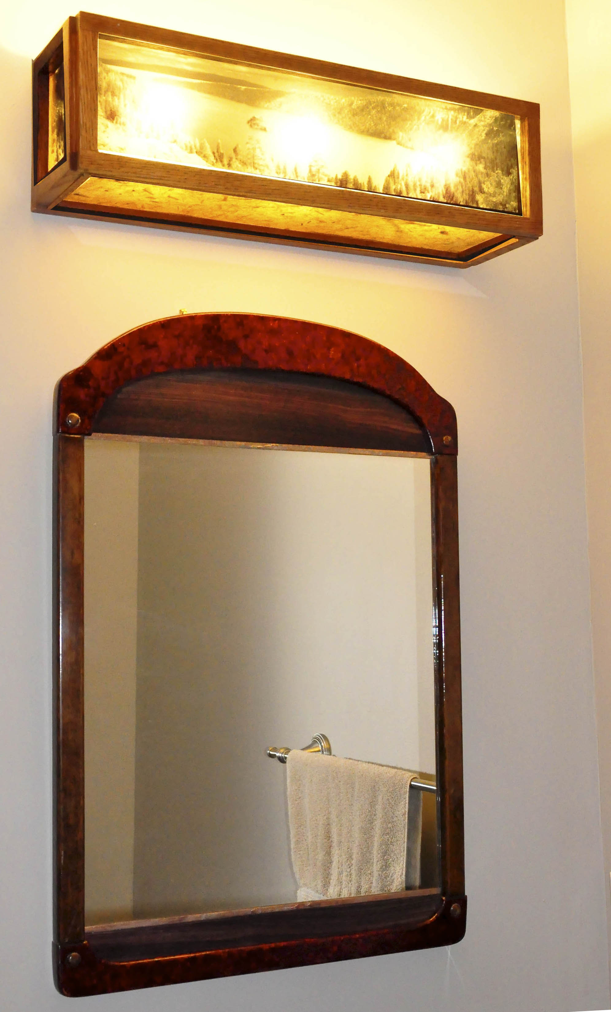 Arts And Crafts Vanity Mirror Bathroom